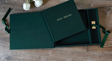 Wedding album by Michael Petersen photography